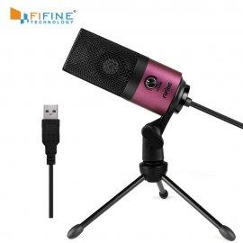 Kvalitní Nahrávací mikrofon Fifine s polohovatelným stojánkem a VOLUME pro PC YOUTUBE KARAOKE, USB /poštovné ZDARMA!