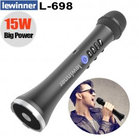 Great wireless KARAOKE microphone with speaker Lewinner L-698 2in1, ECHO, BT, FM, USB