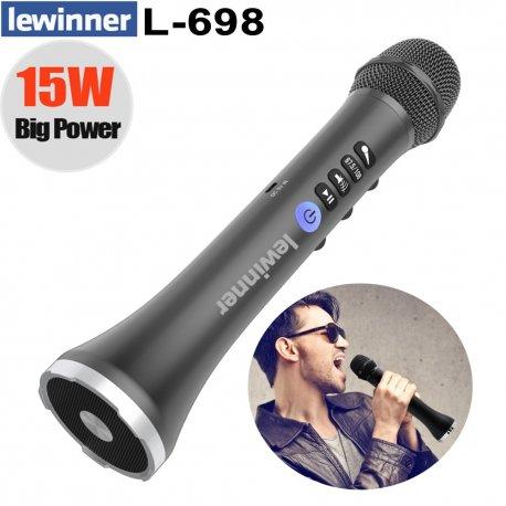 Skvělý bezdrátový KARAOKE mikrofon s reproduktorem Lewinner L-698 2v1, ECHO, BT, USB /poštovné ZDARMA!