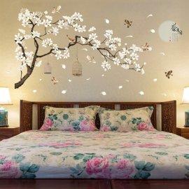 Nádherná dekorace - 187x128cm velký kvetoucí strom na zeď, DIY nalepovací /Poštovné ZDARMA!