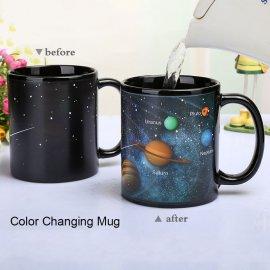 Nádherný měnící hrnek - Planety sluneční soustavy /Poštovné ZDARMA!