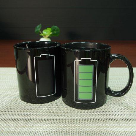 Vtipný originální měnící hrnek - Stav nabíjení baterie /Poštovné ZDARMA!