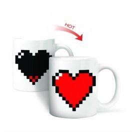 Romantický darček meniace hrnček - Srdiečko