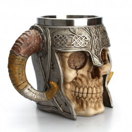 Kvalitní nerezový půllitr na pivo Viking Ram Warrior /Poštovné ZDARMA!
