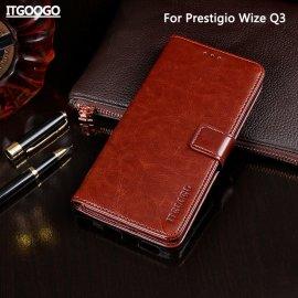 Puzdro pre Prestigio Wize Q3, peňaženka, stojan, PU koža
