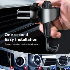 """Svkvělý univerzální držák telefonu do mřížky ventilace pro telefony 4.7"""" až 6.5"""" /Poštovné ZDARMA!"""