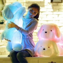 Shining plush dog big 50cm, LED, amazing gift