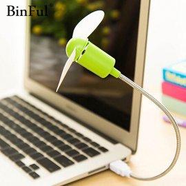 BinFul Mini USB ventilátor pre PC, NTB, powerbanky, USB nabíjačky a ďalšie zariadenia
