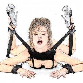 Postroj s pouty na nohy i ruce, nastavitelná velikost, nylon, slave, BDSM /Poštovné ZDARMA!