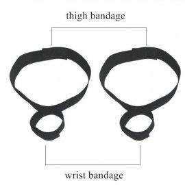 BDSM pouta pro připotání zápěstí ke stehnům, nastavitelná velikost /Poštovné ZDARMA!