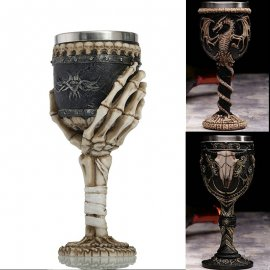 Quality stainless medieval fantasy goblets for wine with interest - 8 variants, 200ml