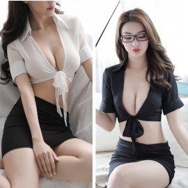 Sexy kostým sekretářka v minisukni, kostým učitelka /Poštovné zdarma!