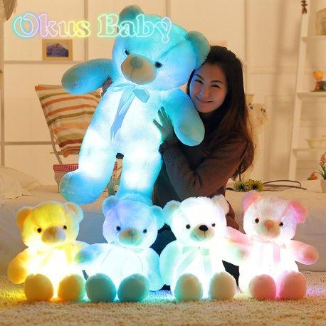 LED Svítící plyšový medvídek 30/50/80cm, úžasný dárek /Poštovné ZDARMA!