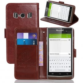 Case for Doogee T3, flip, wallet, stand, PU leather