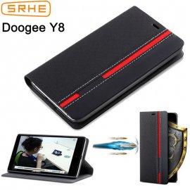 Case for Doogee Y8, flip, wallet, stand, PU leather