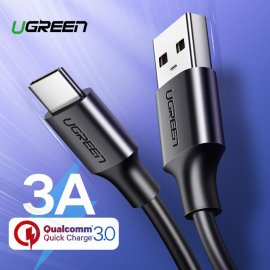 Ugreen quality quick charging cable USB C, 3A QC 2.0 / 3.0, DATA, durable, universal for mobile with USB-C