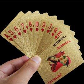 Foliované voděodolné Hrací karty POKER, imitace 24K zlata /Poštovné ZDARMA!