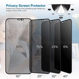 Tempered Glass Privacy Protection for iPhone X XS MAX XR 6 6S 7 8 Plus Anti Spy, Anti Spy Anti Peeping, 9H 2.5D