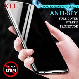 Tempered Glass Privacy Protection for Galaxy S10 S9 S8 Plus S10e Note 9 8, Anti spy Anti peeping, 9H 2.5D