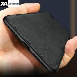 Ultratenké pouzdro pro iPhone 7 8 6 6s Plus X Xs Max Xr, potaženo látkou /Poštovné ZDARMA!