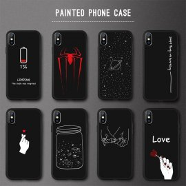 Beautiful Cases for iPhone 5 S SE X 6s 6 7 8 Plus XS Max XR, silicone soft TPU frosted - 20 variants
