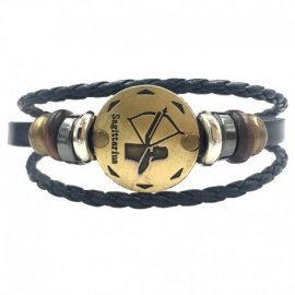 Beautiful Leather Bracelet 12 Zodiac Signs