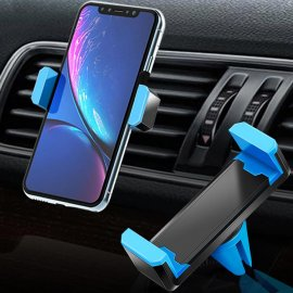 Universal mobile phone holder for ventilation grille eg for iPhone 6/6 Plus Samsung S7 S8 S9 / swivel, 55-83 mm