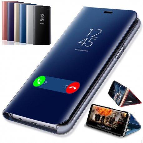 Chytré zrcadlové pouzdro pro Samsung Galaxy S8 S9 Plus S10 S10e S7 Edge S6 Note 9 8 J7 J5 2016 A6 A8 J4 J8 J6 2018 A5 2017