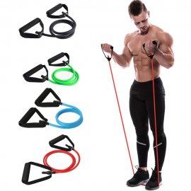 120CM Posilovací guma, elastická pro cvičení, jógu, fitness + nástavec pro uchycení do dveří