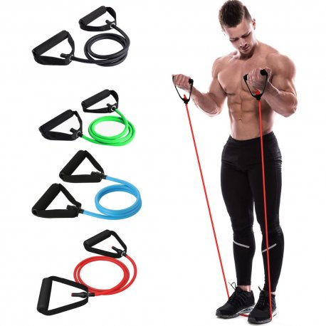 120cm Yoga Pull Rope Elastic Resistance Bands Fitness Crossfit Workout Exercise Tube Practical Training Rubber Tensile Expander