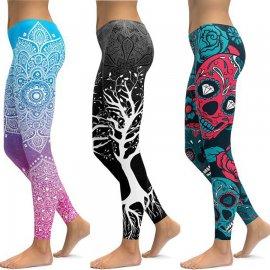 Elastické fitnes zeštíhlující legíny na jógu, běh, gymnastiku, sport, Push Up /17 variant!