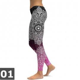 Elastické fitnes zeštíhlující legíny s vysokým pasem na fitness, jógu, běh, gymnastiku, sport, Push Up