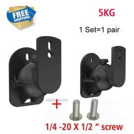(1 pair) free shipping SW-03B Universal sound speaker wall mount bracket 502 speaker plastic 5kg