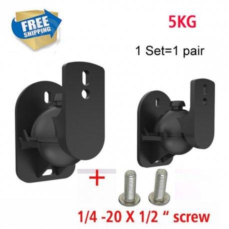 (1 pair) free shipping SW-03B Universal sound speaker wall mount bracket 502 speaker plastic 5kg