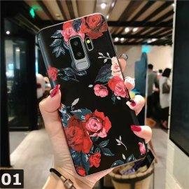 3D kvety Embosované puzdro pre Samsung Galaxy J7 J3 J5 A5 J4 J6 A6 Plus A70 A7 2018 2016 2017 S7 S8 S9 S10 Plus A50 A30 A40