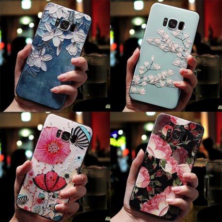 3D Flower Emboss Case For Samsung Galaxy J7 J3 J5 A5 J4 J6 A6 Plus A70 A7 2018 2016 2017 S7 S8 S9 S10 Plus A50 A30 A40 Case TPU