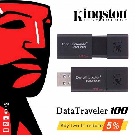 Flash Disk KINGSTON DataTraveler 100 G3, 16gb 32gb 64gb 128gb, USB 3.0 flashdisk