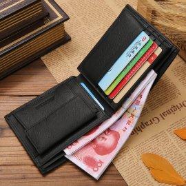 Kožená pánska peňaženka - priehradka na mince, karty, doklady / Poštovné ZADARMO!