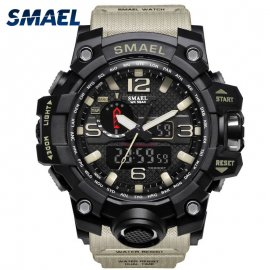 SMAEL Pánske hodinky vo vojenskom štýle, LED podsvietenie, vodotesné, šport S Shock / Poštovné ZADARMO!