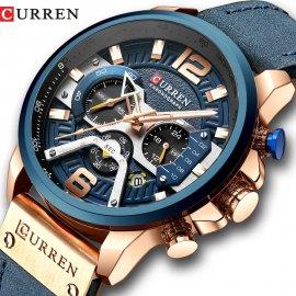 Kvalitní Hodinky CURREN 8329 s koženým řemínkem, quartz, vodotěsné /Poštovné ZDARMA!