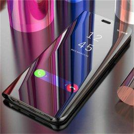 Chytré zrkadlové puzdro pre Samsung Galaxy S8 S9 Plus S10 S10e S7 Edge S6 Note 9 8 J7 J5 2016 A6 A8 J4 J8 J6 2018 A5 2017