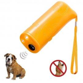 Ultrazvukový tréner psov, odpudzovač 3v1, pre odnaučenie štekanie, tréning psov, LED svietidlo