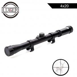 Puškohled LUGER 4x20 zaměřovač reflexní optika 11mm uchycení /Poštovné ZDARMA!