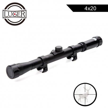 Riflescope LUGER 4x20 Sight Reflective Optics 11mm Mount / FREE SHIPPING!