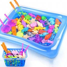 Magnetické rybičky s udičkou, hra rybář - prut + podběrák + 12ks ryb /Poštovné ZDARMA!