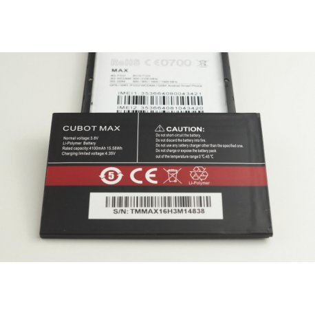 Battery for CUBOT MAX, 4100mAh, original / FREE SHIPPING!