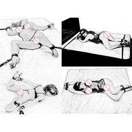 Bondage na postel, pouta, sex, slave, BDSM
