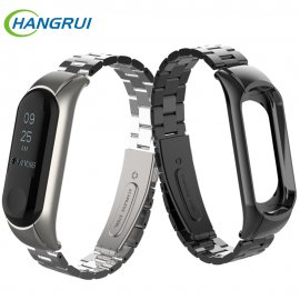 Metal Strap for Xiaomi Mi Band 3 Xiaomi Mi Band 4, Stainless Steel