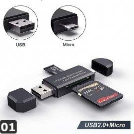 Čítačka pamäťových kariet USB 3.0 OTG Micro USB Type C / Poštovné ZARMA