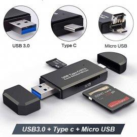 Čtečka paměťových karet USB 3.0 OTG Micro USB Type C /Poštovné ZARMA
